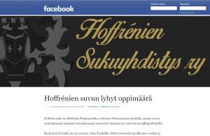 Hoffrénit Facebookissa